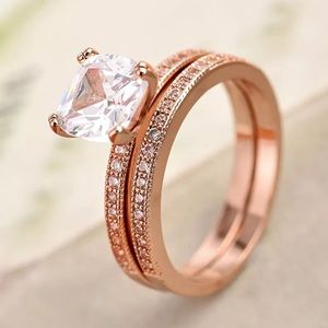 Jewelry - Size 10 Rose Gold Plated Ring Set